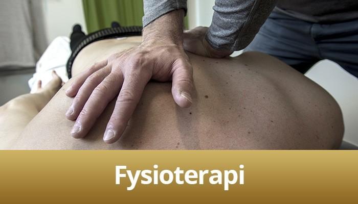 Billede af fysioterapi på briks